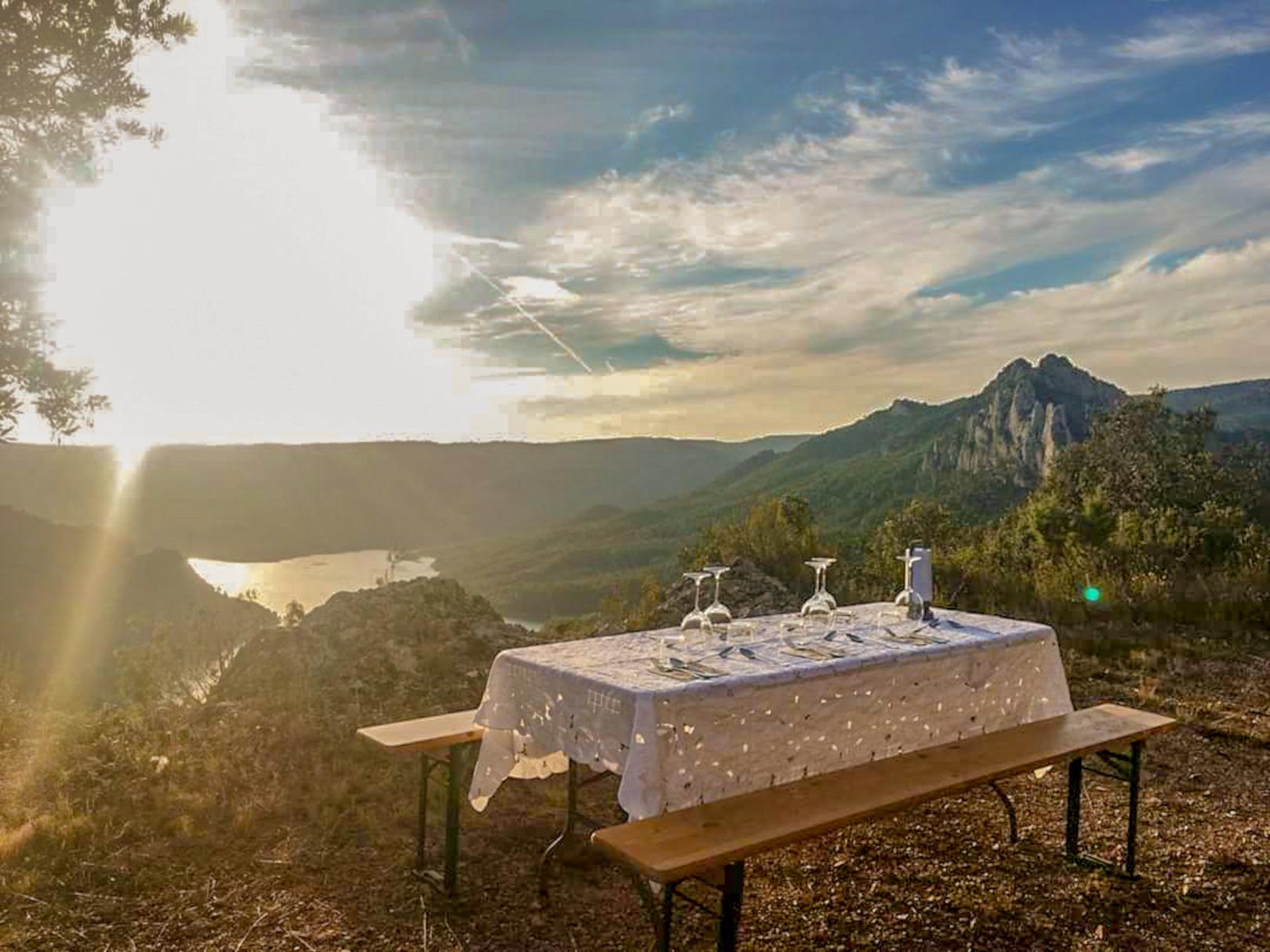 Mountain top dinner in Catalunya