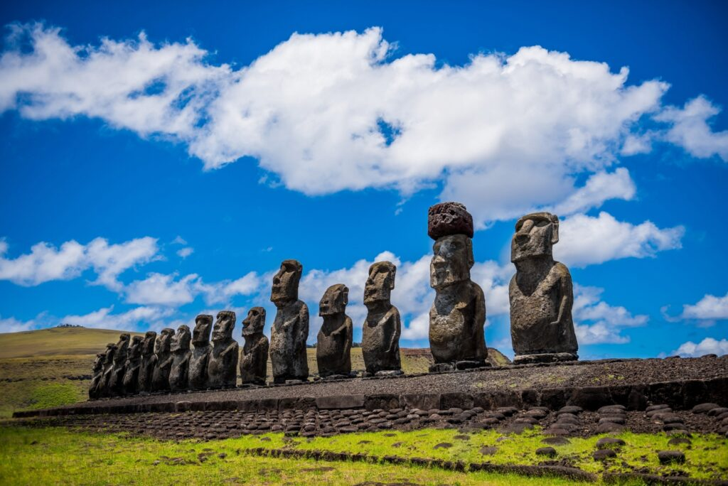 Moai op Easter Island