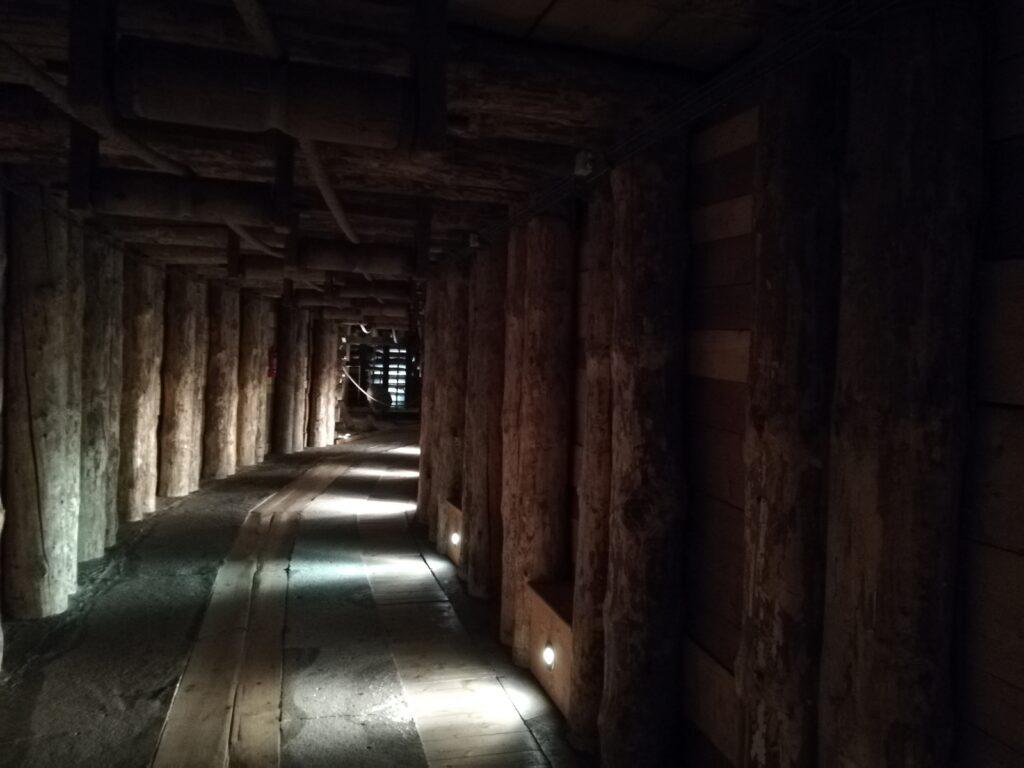 mijngangen in de Wieliczka-zoutmijn