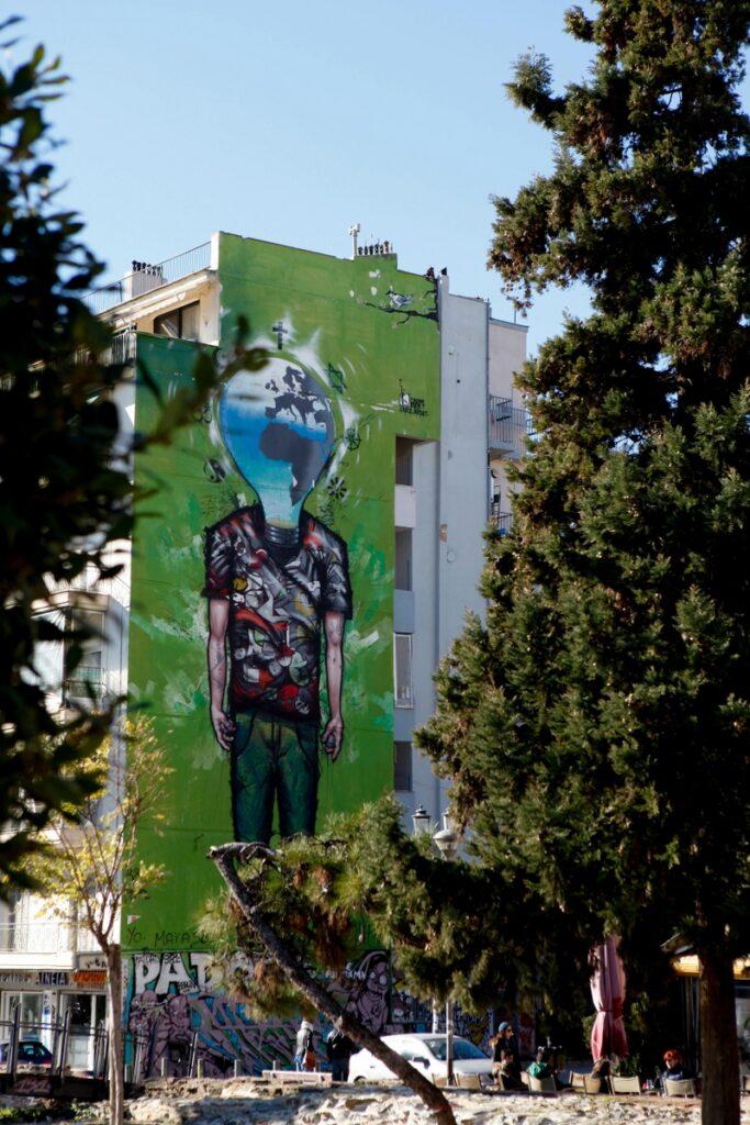 coole streetart in Thessaloniki