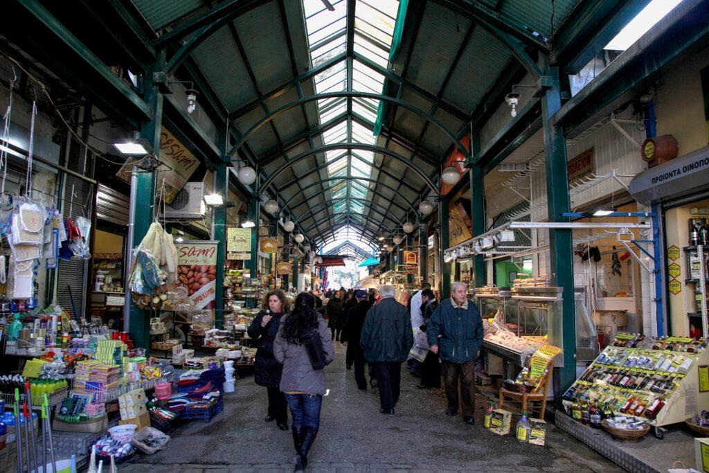 Grieks gezellig marktje in Thessaloniki