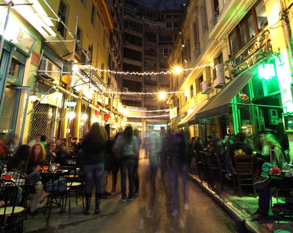 het nachtleven van Thessaloniki